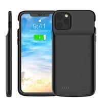 Para iPhone 11 11 Pro 11 Pro Max caso para iPhone Xr X Xs X máx. 6s 6 7 8 Plus funda cargadora de batería 5000mAh Banco de la energía de la caja de la batería Cajas de cargadores de batería     -