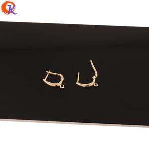 Image 2 - לבבי עיצוב 50Pcs 12*18MM תכשיטי אביזרי/DIY ביצוע/עגילי ווים/אמיתי זהב ציפוי/יד/עגיל ממצאי