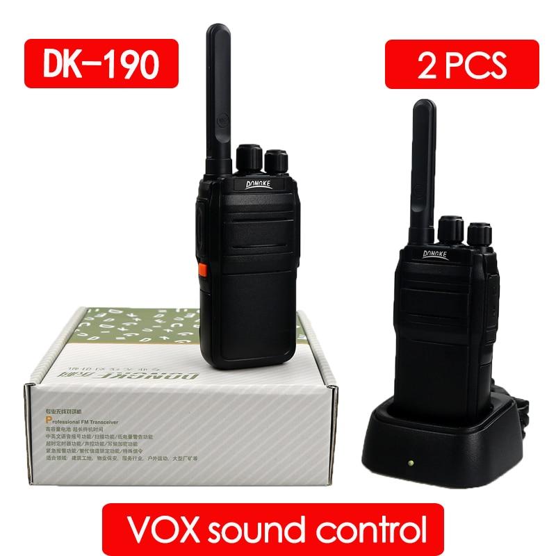 2pcs DONGKE 190 Walkie Talkie Radio Station UHF 400-470MHz 16CH CB Radio Talki Walki Portable Transceiver Radio Comunicador