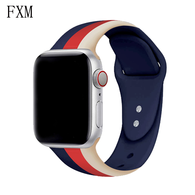 Sport Silicone For Apple Watch Band 42mm 38mm Iwatch Strap 4 3 2 Bracelet Pulseira Apple Watch Accessories Correa 44mm 40mm