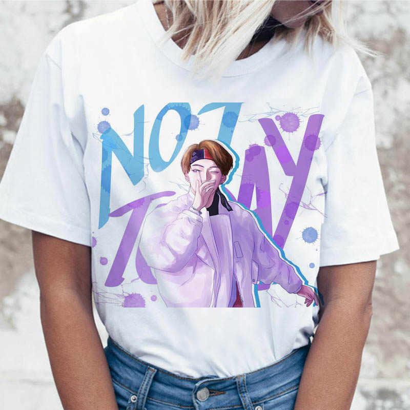 Kpop Tเสื้อJIN SUGA J HOPEผู้หญิงJIMIN V JUNGKOOK Top TshirtสำหรับK PopเกาหลีTeesกราฟิกตลกหญิงเสื้อยืดK-Pop