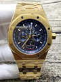 De luxo Da Marca Dos Homens Novos Relógio Automático GMT Mecânico Da Fase Da Lua Relógios de Safira Ouro Amarelo Luminoso Azul Branco Transparente de Volta