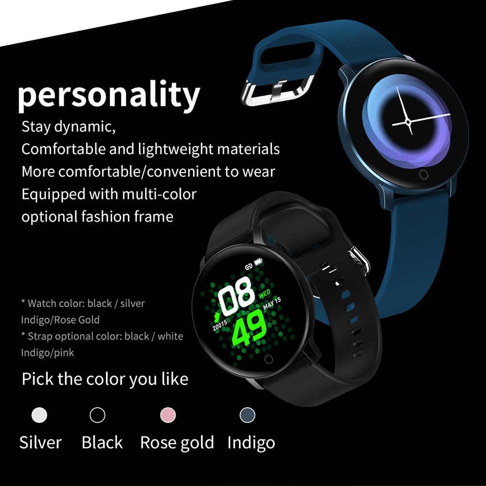 Relógio inteligente das mulheres dos homens relógio de fitness monitor de pressão arterial à prova dwaterproof água smartband para android iphone telefone