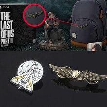 Последний из нас часть 2 Ellie рюкзак булавки брошь щит Крылья Tlou космическая ракета значок броши для фанатов Игра Ювелирные изделия подарок