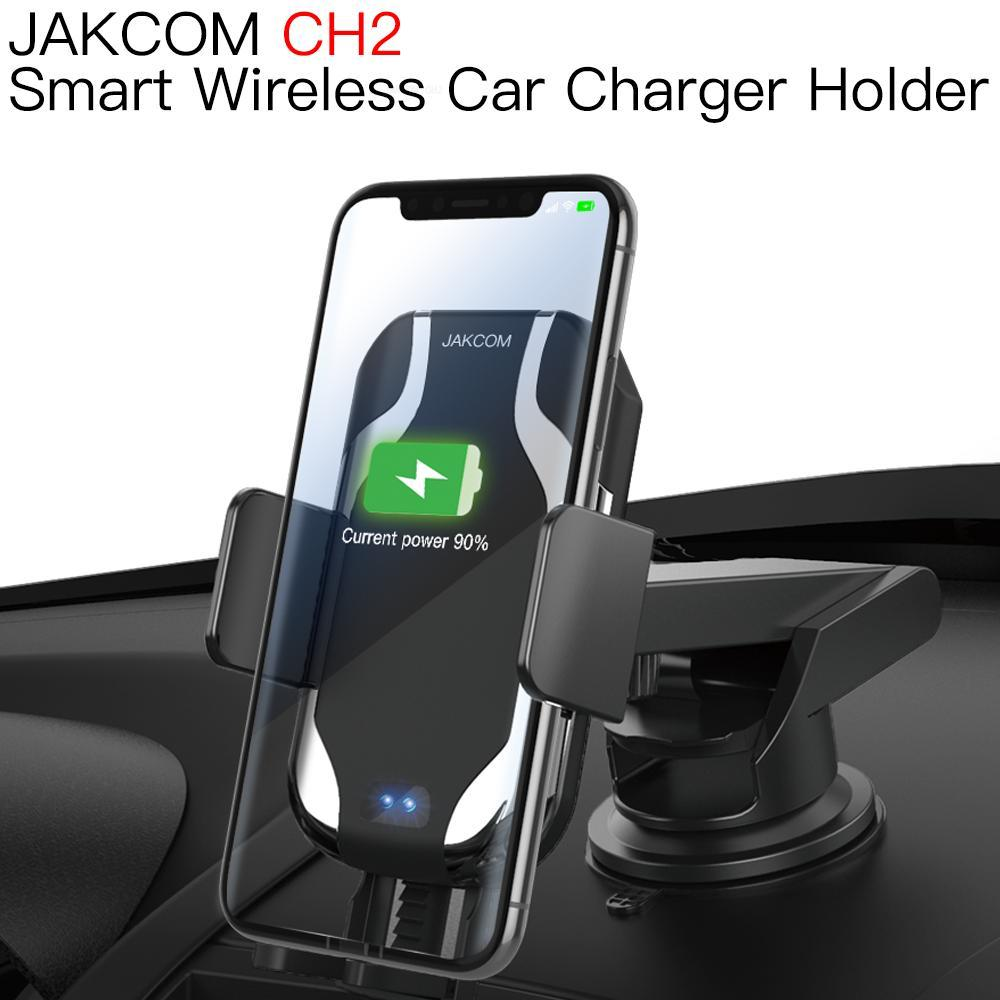 JAKCOM CH2 Smart Wireless Car Charger Mount Holder Best gift with mobile phone docking station charger wireless wood 20w