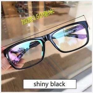 Image 4 - Vazrobe 150mm ponadgabarytowych okulary ramka mężczyźni kobiety Fat Face okulary człowiek TR90 okulary na receptę obiektyw mężczyzna czarny