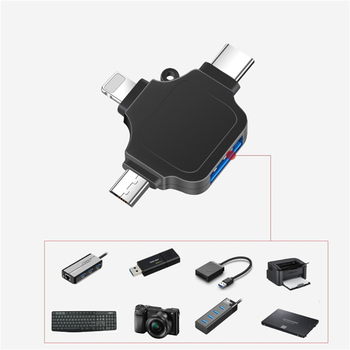 3 In 1 OTG Card Adapter TF/SD Memory Card Reader USB Flash Drive Adapter For Iphone Android Camera Keyboard Mouse Adapter