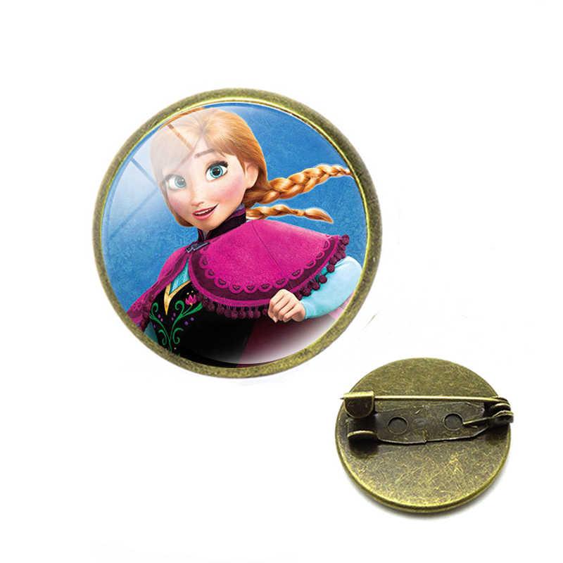 Putri Anak Kartun Bros Elsa Indah Gadis Hadiah Pakaian Aksesoris Pin Anak Membuat Perhiasan