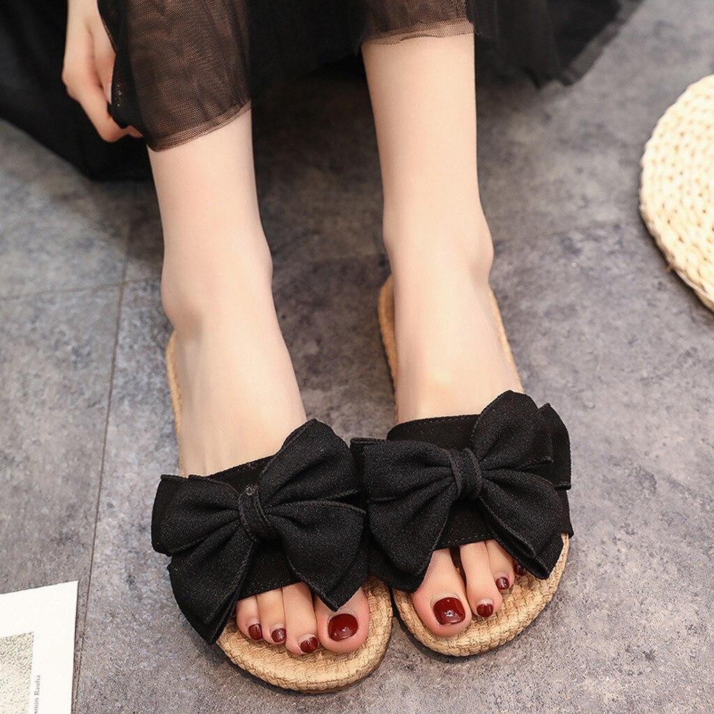 SAGACE Women Shoes Summer Big Bow Round