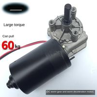 10rpm 80rpm high power DC worm gear motor 12v/24V garage door motor 60w