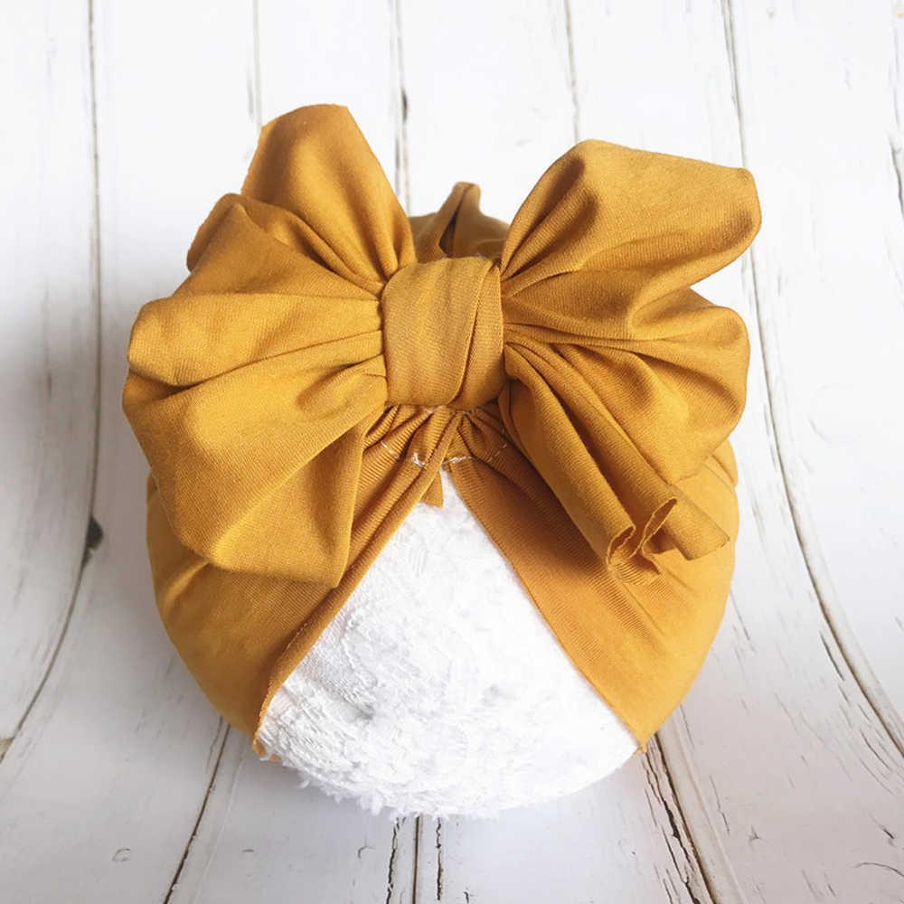 Mode Niedlichen Baby Hut Kleinkind Kinder Weiche Baumwolle Turban Beanies Hut Junge Mädchen Floral Bowknot Kopf Wraps Für 0- 3 jahre Kinder