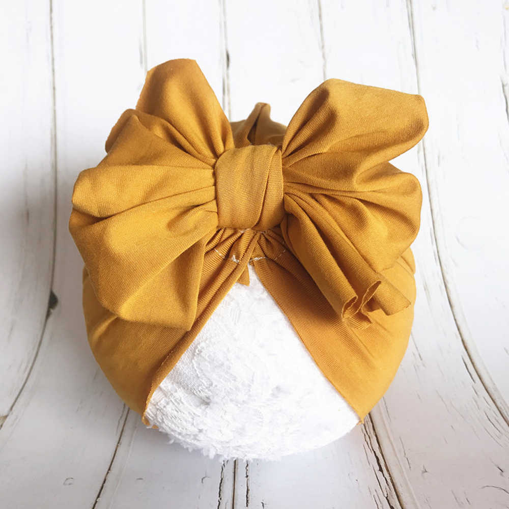 Mode mignon bébé chapeau enfant en bas âge enfants doux coton Turban bonnets chapeau garçon fille fleur nœud papillon bandeau pour 0-3 ans enfants