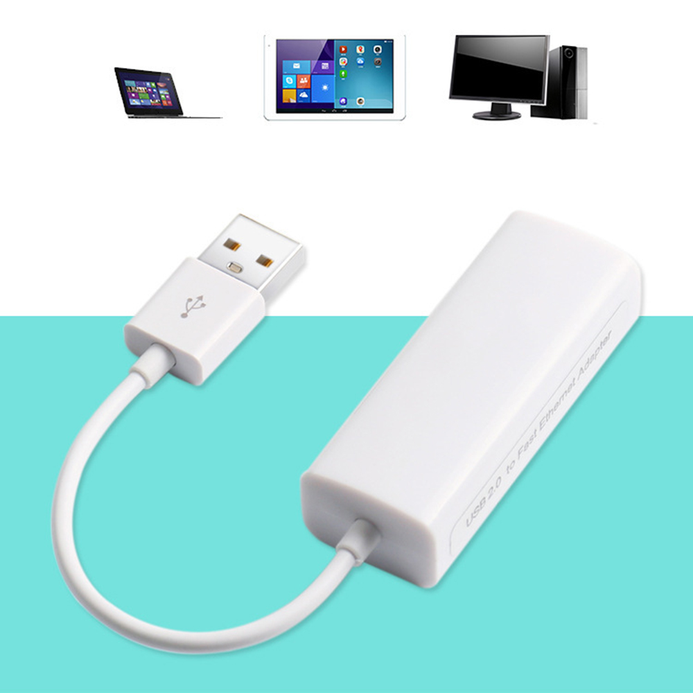 USB 2.0 To RJ45 Lan Adapter Ethernet Network Card High Speed For Mac OS Android Tablet PC Laptop Windows XP 7/8/10 Promotional
