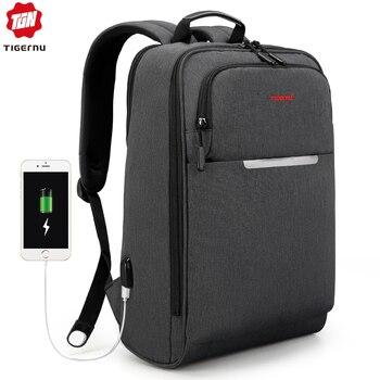 Tigernu  Multifunction USB charging Backpack Travel Men 14 15.6 inch Laptop Bag Backpacks For Teenager School bag  for Teens