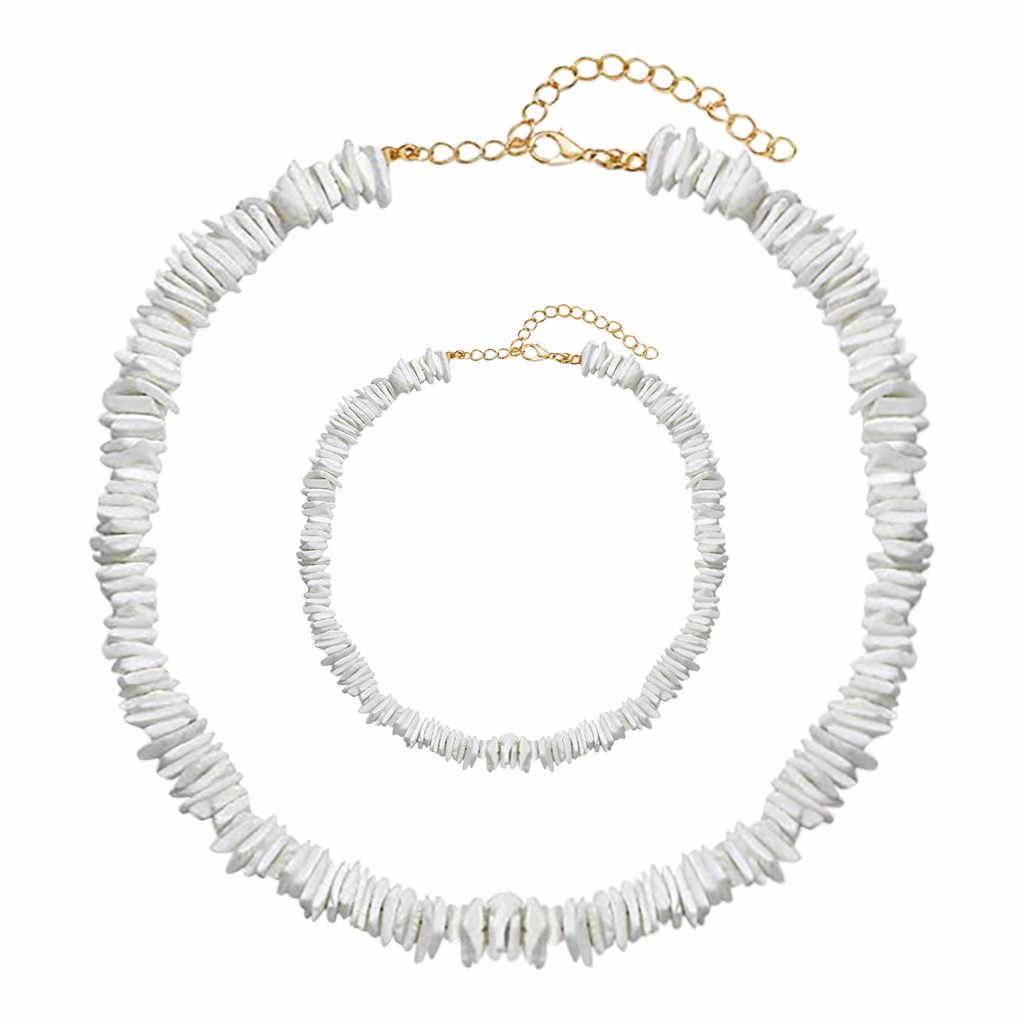 Hawaii Kerang Mutiara Kalung Kalung Mutiara Kalung Liontin Shell Pearl Kalung untuk Wanita Natal Модное Ожерелье