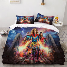 Avenger Beddengoed Set 3 Stuk Cover Set Anime Hot Cartoon Dekbedovertrek Beddengoed Kids Jongens Bed Cover Set Luxe Bed dekbedovertrek(China)