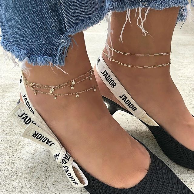 2019 Bohemia Style Beach Sexy Round Cubic Zircon drop Pendant 925 silver Anklets Bracelet charm Ankle Chain For Women Gold Color
