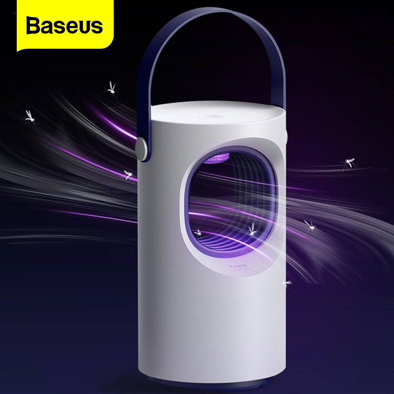 Baseus USB Light Mosquito Killer Lamp Trap LED Electric Trap Lamp Outdoor UV Light Killing Lamp Anti Mosquito Housefly Insect