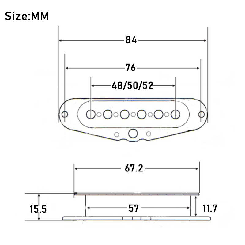 3 Stücke Einzige Spule Pickup Spule für Elektor Gitarre Pickup Spule Intern X4B7