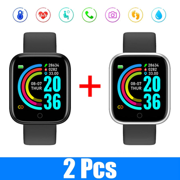 Y68 Smart Watch Men 2021 Smartwatch Heart Rate Blood Pressure Sleep Motion Tracking Monitoring Smart Bracelet for Android IOS 1