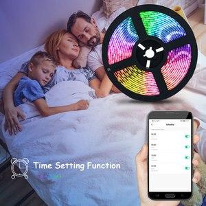 RGB светодиодный светильник с Tuya Smart Life APP Wifi контроллер DC12V 5050 60 светодиодов/м Светодиодная гибкая полоса работает с Alexa Google Home