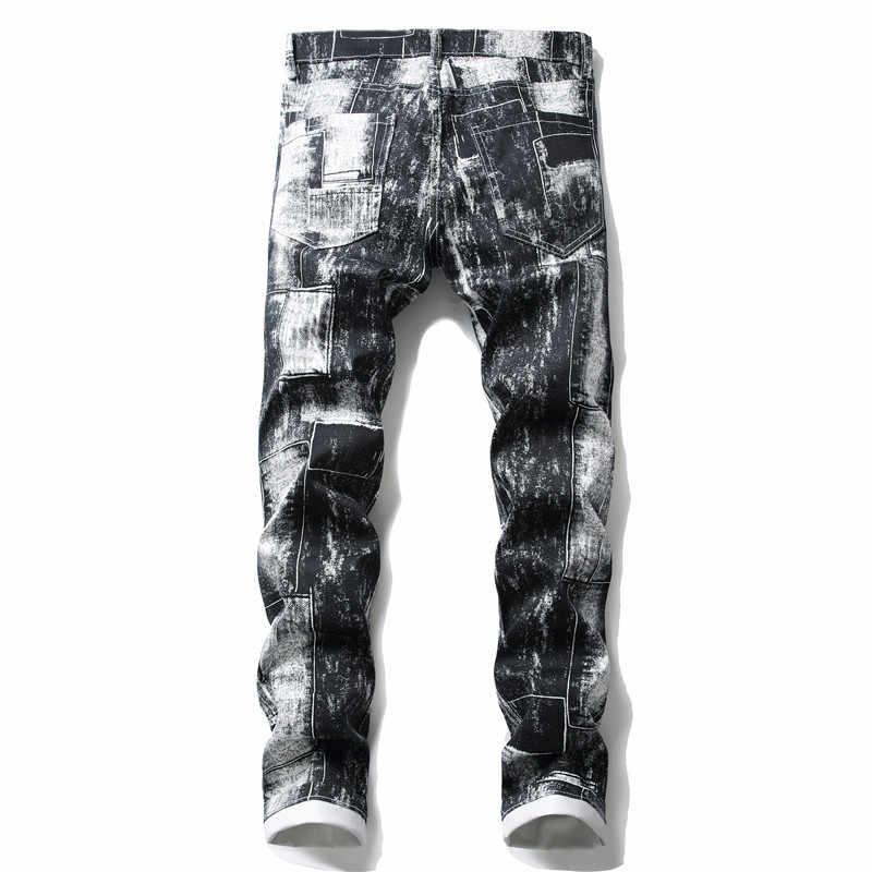 청바지 남성 스트레이트 바지 남성 고품질 소프트 슬림 피트 데님 디자이너 캐주얼 바이커 바지 Pantalon Hombre Homme