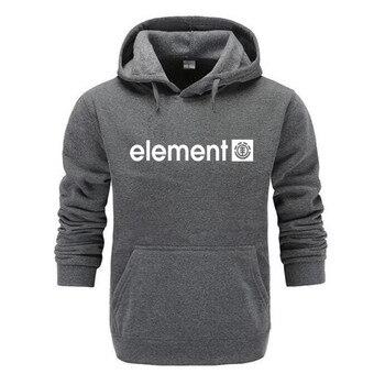 New 2019 Autumn Winter Brand Mens Hoodies Sweatshirts Men High Quality ELEMENT Letter Printing Long Sleeve Fashion Mens Hoodies 1