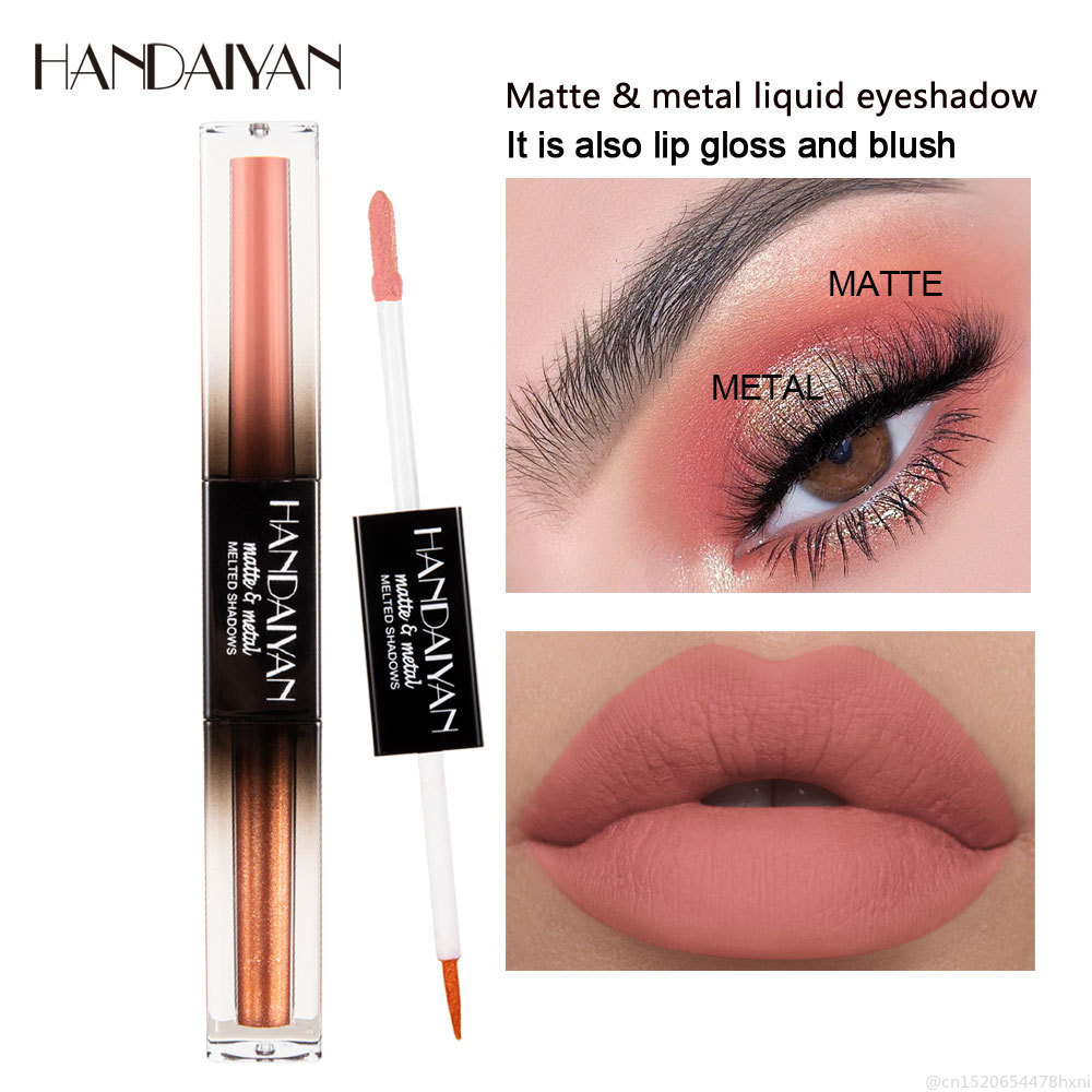 HANDAIYAN 3 In 1 Pen For Eyeshadow EyeLiner Lipgloss Liquid Glitter Matte Metal Waterproof Lasting Lip Eye Cosmetic Makeup TSLM1