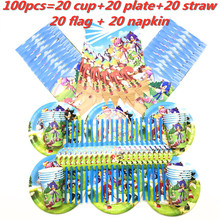 Hot Cartoon Sonic the Hedgehog Kids Baby Shower Party Decoration Paper Napkins Banners Straws Cup Plates Birthday Party Supplies