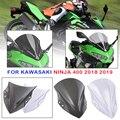 Для мотоцикла Kawasaki Ninja 400 2018-2019 Высокое качество PC пластик лобовое стекло дефлекторы ветра Ninja400 18 19