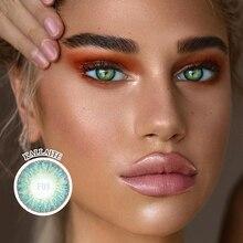 Lareen 1 Pair=2PCS Three tone Big Eye Makeup Contact lens Soft Color Contacts