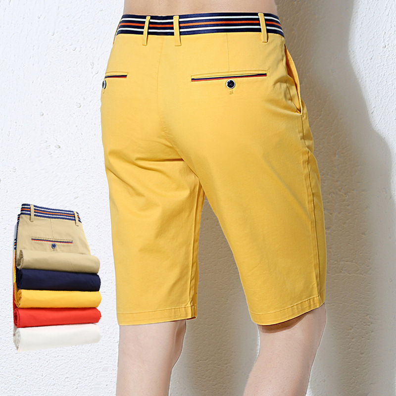 Stretch Cotton Shorts Mens Five-Point Pants Trend Korean Casual Summer Beach Camouflage Gym Clothing Pants Short Hombre