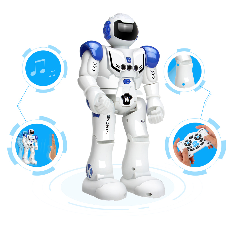 DODOELEPHANT Robot USB Charging Dancing Gesture Action Figure Toy Robot Control RC Robot Toy for Boys Children Birthday Gift