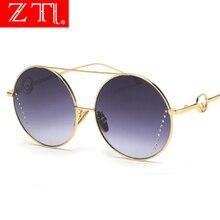 ZT New Arrival Fashion Round Grdient Polit Sunglasses Women Oversize Gradient Sun Glasses Polarized UV400