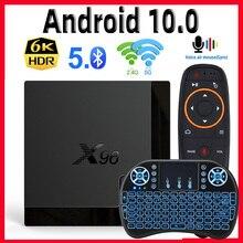 X96メイトtvボックスアンドロイド10 vs X96最大サポート2.4グラム & 5グラムデュアル無線lan googleの音声アシスタント4 18k 60fps google playstore youtube X96mate
