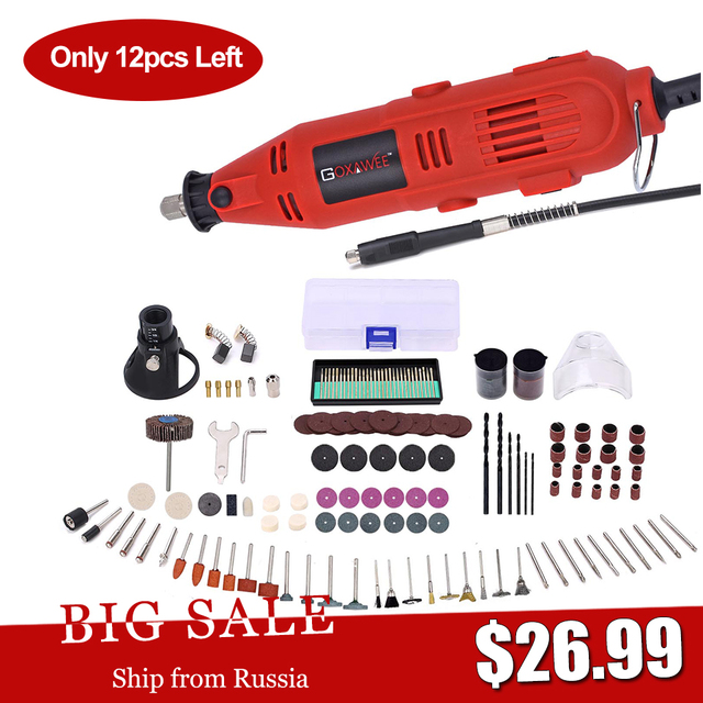 220V Electric Mini Drill For Dremel Rotary Power Tools with 6 Variable Speeds Mini Engraver Grinder Polisher