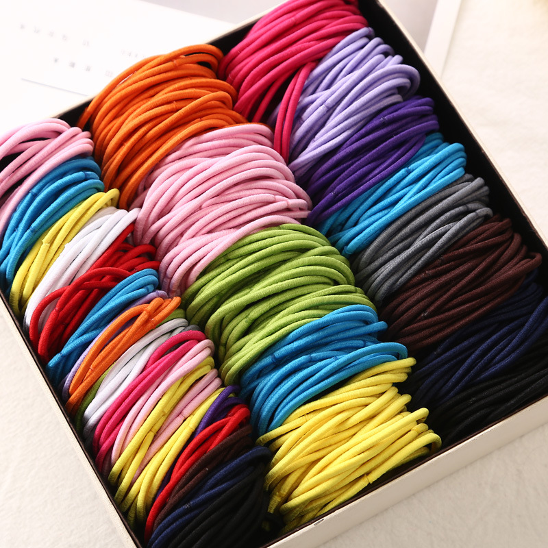 20 Pcs /lot 5 CM Colorful Rubber Bands Scrunchies Solid Elastic Hair Bands For Women Girls Headband Ties Gum Hair Accessories