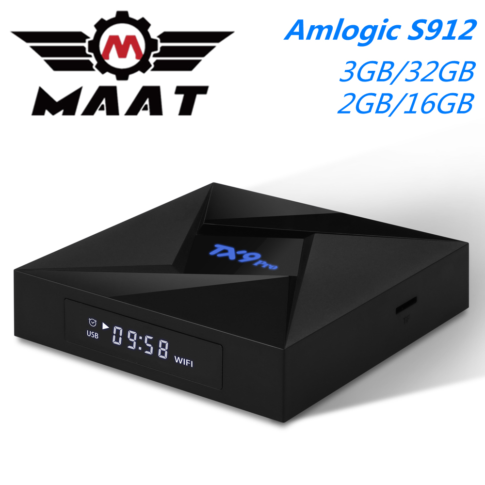 TX9 Pro Android 7.1 TV Box Smart Media Player Amlogic S912 3GB RAM 32GB Rom Octa Core 2.4G/5GHz Dual Wifi 4K TX9Pro Set Top Box(China)
