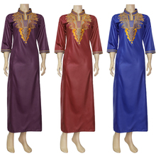 MD South African Traditional Wear Dashiki Maxi Dresses For Women Plus Size Clothes Gold Embroidery Lady Dress Wedding Party Robe