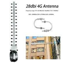 4G Booster Amplifier LTE 4G 28dbi Antenna SMA Male WIFI Signal Outdoor Directional Booster Yagi Antenna Modem RG58 1.5m