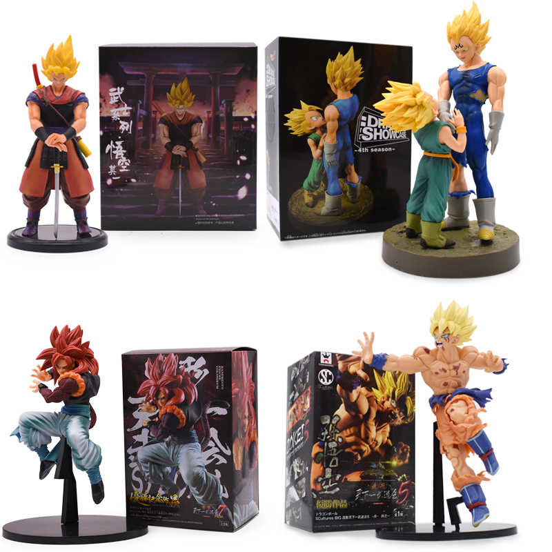 Dragon Ball Z Super Saiyan Goku Vegeta Vader En Zoon 4th Seizoen Pvc Action Figures Collectible Model Speelgoed Geschenken 20cmcm