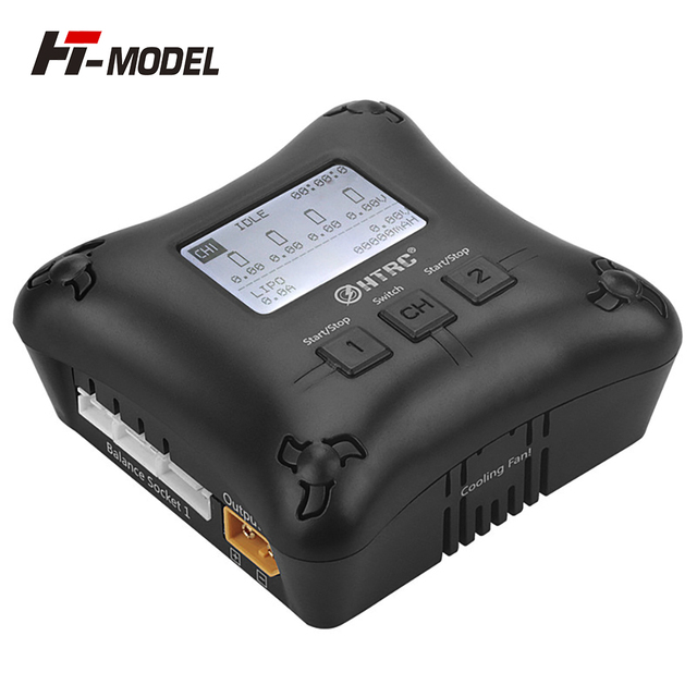 HTRC H4AC DUO 20W x2 2A x2 Mini Portable RC Charger 2 4s Lipo Battery Charging Dual Port