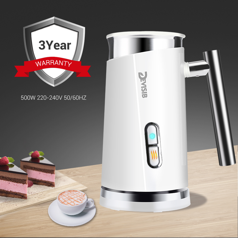 Image 5 - DEVISIB Automatic Milk Frother Milk Steamer Electric Cappuccino Hot /Cold Coffee Stainless Steel CE/GS 220V 3 Year Warranty-in Milk Frothers from Home Appliances