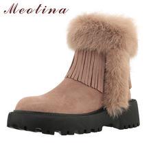 Meotina/женские зимние ботинки; Ботильоны из натуральной кожи