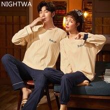 Пижамный комплект для пар nightwa хлопковая одежда сна мужчин