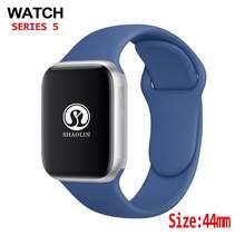 44mm bluetooth relógio inteligente 1:1 smartwatch série 4 caso para ios apple iphone & android telefone
