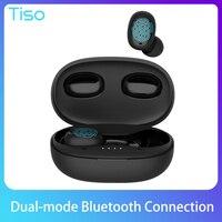 Tiso-Auriculares inalámbricos i6 dual con Bluetooth 5.0, dispositivo estéreo, TWS, 3D, con micrófono y cancelación de ruido