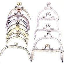 Kuss Schnallen Sperren Oval Blume Kopf Arch Rechteck Rahmen Metall Für Kupplung Geldbörse Tasche Handtasche Statten 8,5-12,5 cm 13 arten