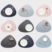 Leather Placemat Tableware Pad Oil Water Resistant Heat Insulation Non-Slip Tablemat Coaster Set for Kitchen Washable Cup