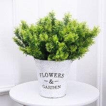 Искусственное пластиковое бонсай, искусственное растение, 7 зубцов, имитация тасонг бонсай, садовая Цветочная композиция, украшение